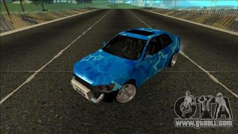 Lexus IS300 Drift Blue Star for GTA San Andreas back view