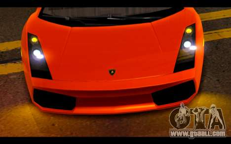 Lamborghini Gallardo for GTA San Andreas side view
