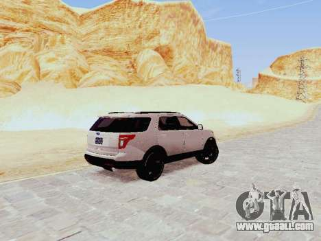 Ford Explorer 2013 Semi-Tuning for GTA San Andreas back left view