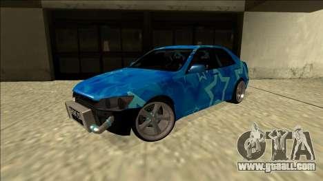 Lexus IS300 Drift Blue Star for GTA San Andreas back left view