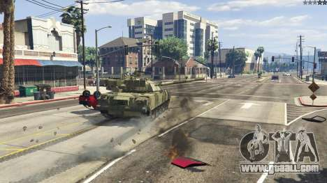 GTA 5 T-80U front right side view