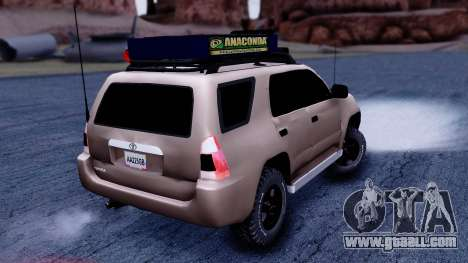 Toyota 4runner 2009 Full Off-Road for GTA San Andreas left view