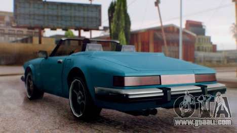 Updated Comet for GTA San Andreas right view