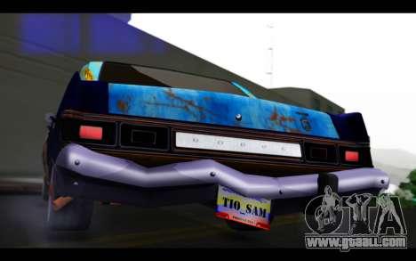 Dodge Dart 1975 v2 Estilo Rusty for GTA San Andreas inner view