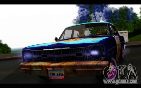 Dodge Dart 1975 v2 Estilo Rusty for GTA San Andreas back view