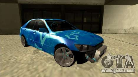 Lexus IS300 Drift Blue Star for GTA San Andreas right view