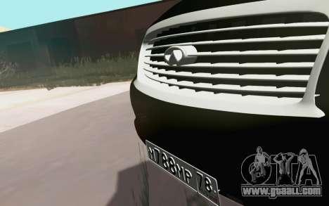 Infiniti QX80 for GTA San Andreas back view