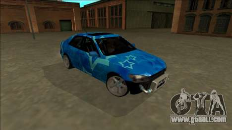 Lexus IS300 Drift Blue Star for GTA San Andreas side view