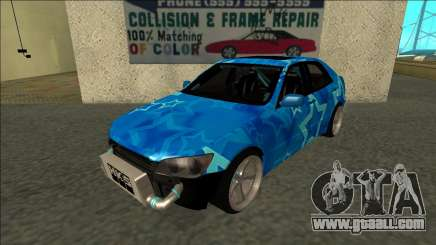 Lexus IS300 Drift Blue Star for GTA San Andreas