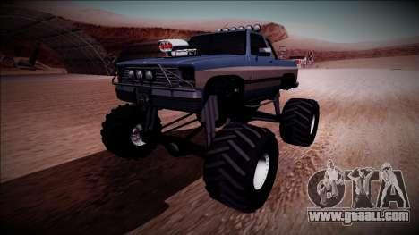 Rancher Monster Truck for GTA San Andreas