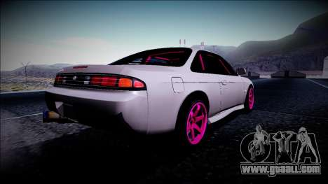 Nissan Silvia S14 Drift Monster Energy for GTA San Andreas back left view