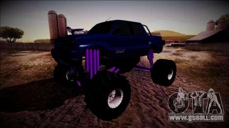 GTA 4 Cavalcade FXT Monster Truck for GTA San Andreas back view