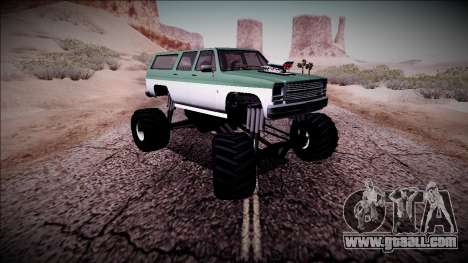 Rancher XL Monster Truck for GTA San Andreas upper view