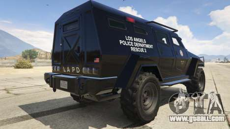 GTA 5 LAPD SWAT Insurgent rear left side view