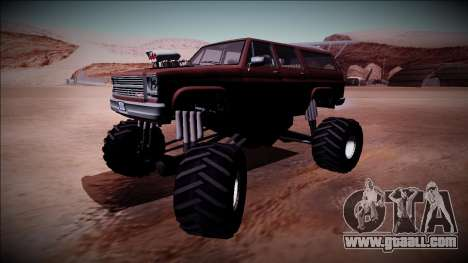 Rancher XL Monster Truck for GTA San Andreas back view