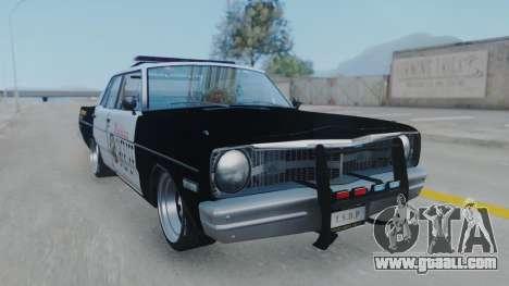 Dodge Dart 1975 v3 Police for GTA San Andreas back left view