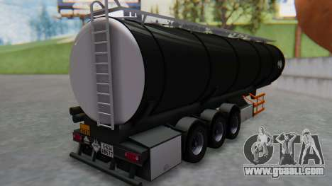 Trailer Cistern for GTA San Andreas left view