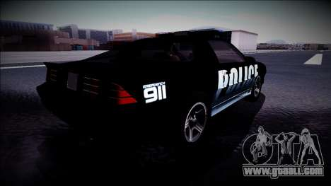 Chevrolet Camaro 1990 IROC-Z Police Interceptor for GTA San Andreas back view