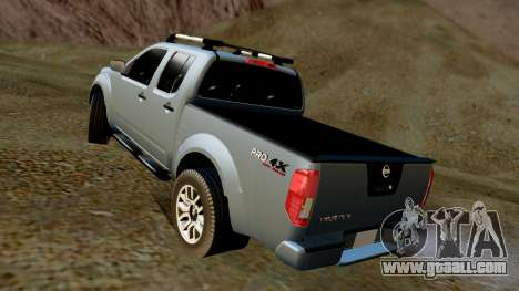 Nissan Frontier PRO-4X 2014 for GTA San Andreas back left view