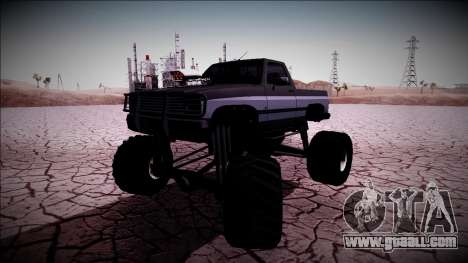 Rancher Monster Truck for GTA San Andreas side view