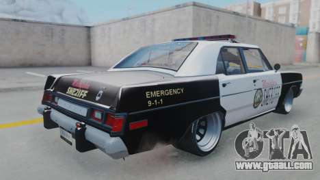 Dodge Dart 1975 v3 Police for GTA San Andreas left view