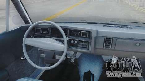 Dodge Dart 1975 v3 Police for GTA San Andreas inner view