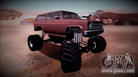 Rancher XL Monster Truck for GTA San Andreas inner view