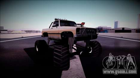 Rancher Monster Truck for GTA San Andreas upper view