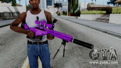 Purple Sniper for GTA San Andreas third screenshot