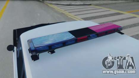 Dodge Dart 1975 v3 Police for GTA San Andreas back view