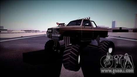Rancher Monster Truck for GTA San Andreas bottom view