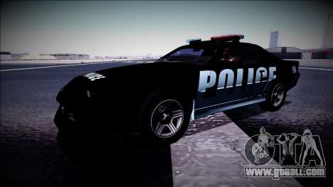 Chevrolet Camaro 1990 IROC-Z Police Interceptor for GTA San Andreas side view