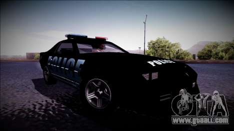 Chevrolet Camaro 1990 IROC-Z Police Interceptor for GTA San Andreas