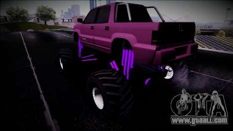 GTA 4 Cavalcade FXT Monster Truck for GTA San Andreas left view
