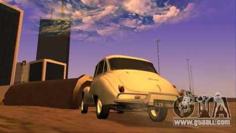 DKW-Vemag Belcar 1001 1964 for GTA San Andreas back left view