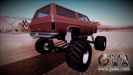 Rancher XL Monster Truck for GTA San Andreas right view