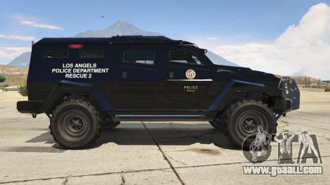 GTA 5 LAPD SWAT Insurgent left side view