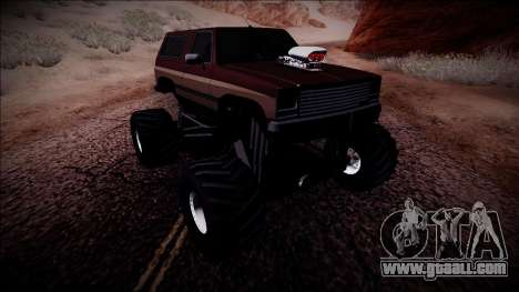 Rancher Monster Truck for GTA San Andreas right view