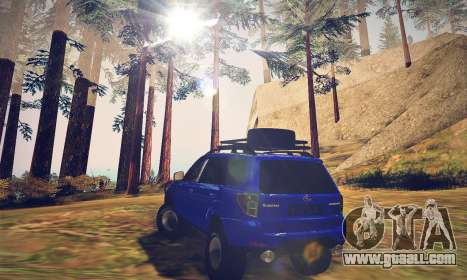 Subaru Forester 2008 Off Road for GTA San Andreas back left view