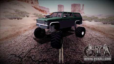 Rancher XL Monster Truck for GTA San Andreas side view