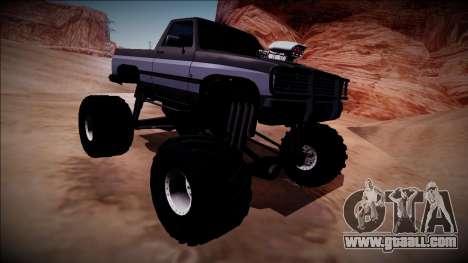 Rancher Monster Truck for GTA San Andreas inner view