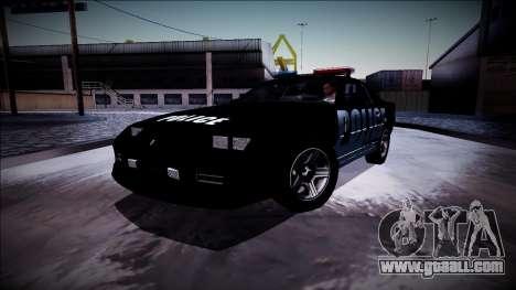 Chevrolet Camaro 1990 IROC-Z Police Interceptor for GTA San Andreas upper view