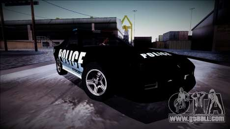 Chevrolet Camaro 1990 IROC-Z Police Interceptor for GTA San Andreas bottom view