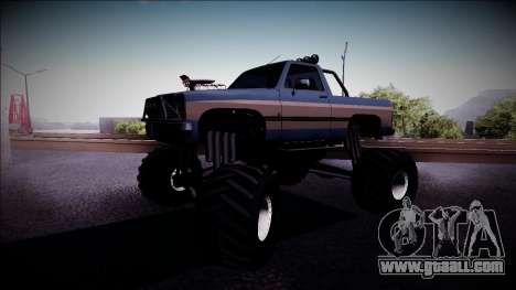 Rancher Monster Truck for GTA San Andreas left view