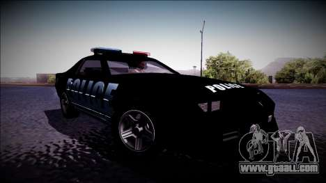 Chevrolet Camaro 1990 IROC-Z Police Interceptor for GTA San Andreas back left view
