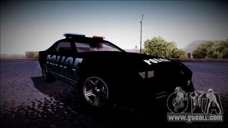 Chevrolet Camaro 1990 IROC-Z Police Interceptor for GTA San Andreas back left view