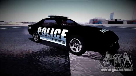 Chevrolet Camaro 1990 IROC-Z Police Interceptor for GTA San Andreas inner view