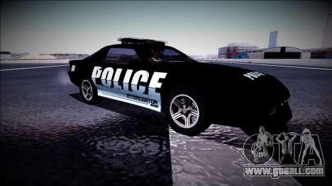 Chevrolet Camaro 1990 IROC-Z Police Interceptor for GTA San Andreas inner view