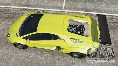 GTA 5 Lamborghini Aventador LP700-4 [LibertyWalk] v1.0 back view