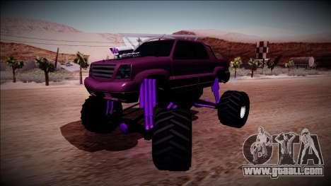 GTA 4 Cavalcade FXT Monster Truck for GTA San Andreas back left view